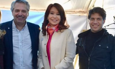 Alberto Fernández Cristina Kirchner y Axel Kicillof