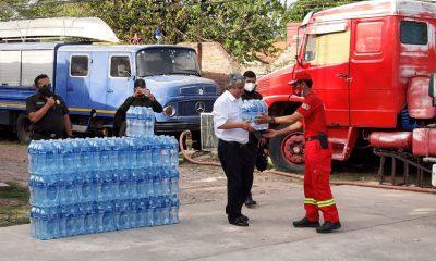Agua para bomberos en incendios