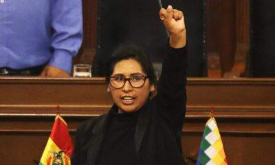 Eva Copa candidata a la Alcaldía de El Alto