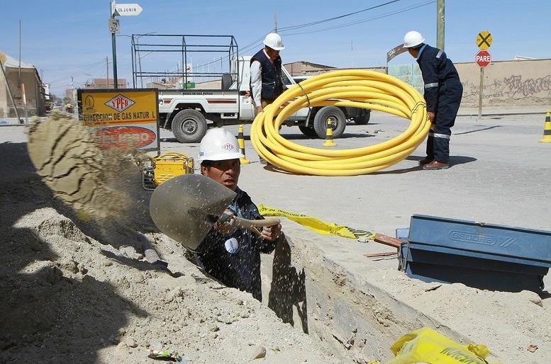 Gas domiciliario en La Paz
