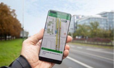 Huawei con aplicación moovit