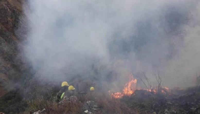 Incendio en el Chaco boliviano