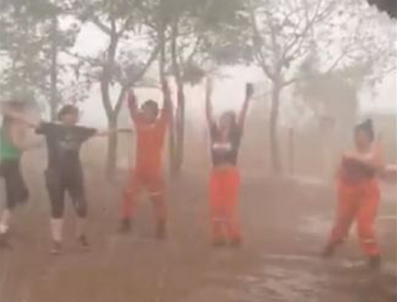 LLuvia en incendio de Santa Cruz
