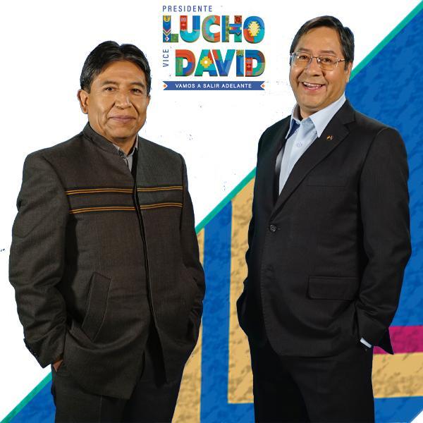 Lucho Arce y David Choquehuanca candidatos del MAS