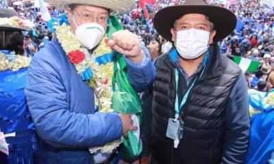 Luis Arce y David Choquehuanca festejan en El Alto