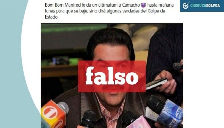 Noticia falsa en Bolivia