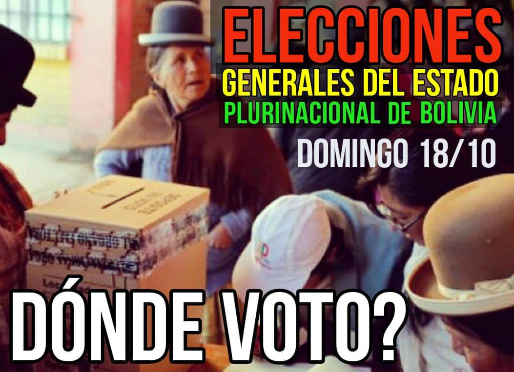 Recintos electorales para las elecciones en Bolivia