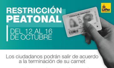 Restricción de circulación en La Paz