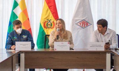 Primera mujer a cargo de YPFB