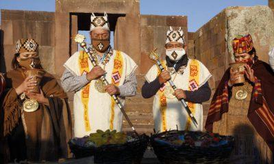 Ceremonia Ancestral en Tihuanacu