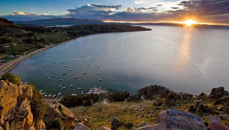Sequía en Lago Titicaca