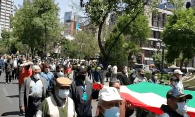 Protesta de exmilitares