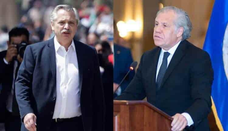 Alberto Fernández contra Luis Almagro de la OEA