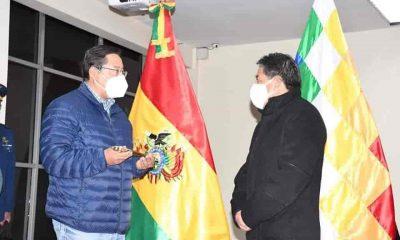 Luis Arce viaja a Brasil para un control médico