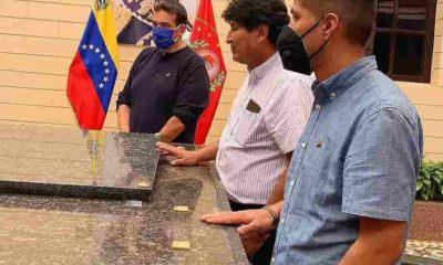 Evo Morales y Andrónico Rodríguez en Venezuela