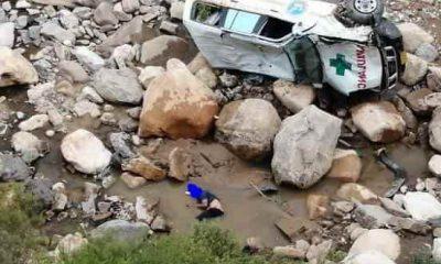 Ambulancia volcó en entre ríos Tarija