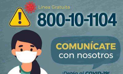 Línea gratuita Covid-19 en Bolivia