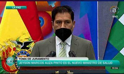 exdirector del Servicio Departamental de Salud de Chuquisaca, Jeyson Marco Auza Pinto es el nuevo Minsitro de Salud de Bolivia.