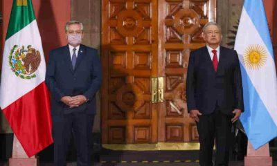 El presidente argentino Alberto Fernández y López Obrador
