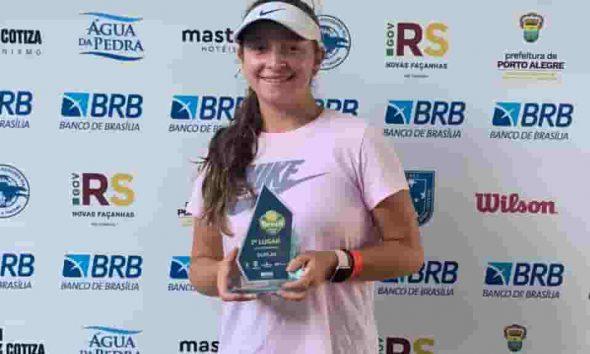 Tenista Natalia Trigosso cameona en Brasil