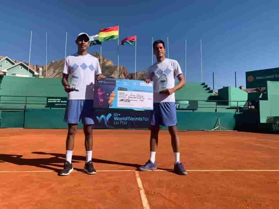 Tenistas bolivianos en el challenger de Concepción