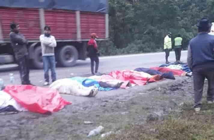 Accidente en carretera sector Gran Cañadon