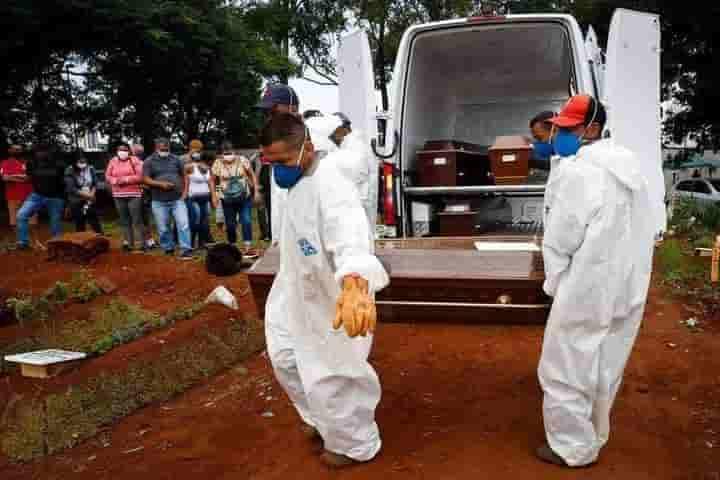 Record de muertos por Covid-19 en Brasil