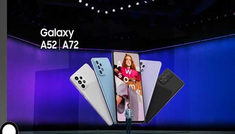 Galaxy A52 y A72