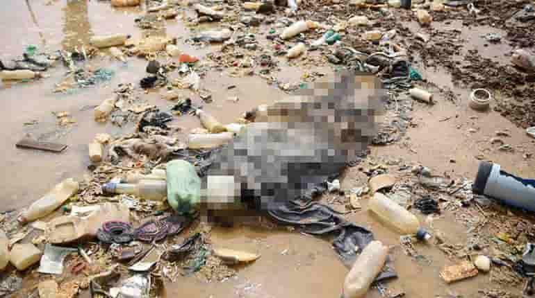 Cadáver de una persona en lago Uru Uru