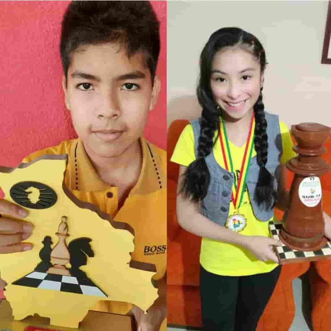 Campeones del Nacional virtual de ajedrez