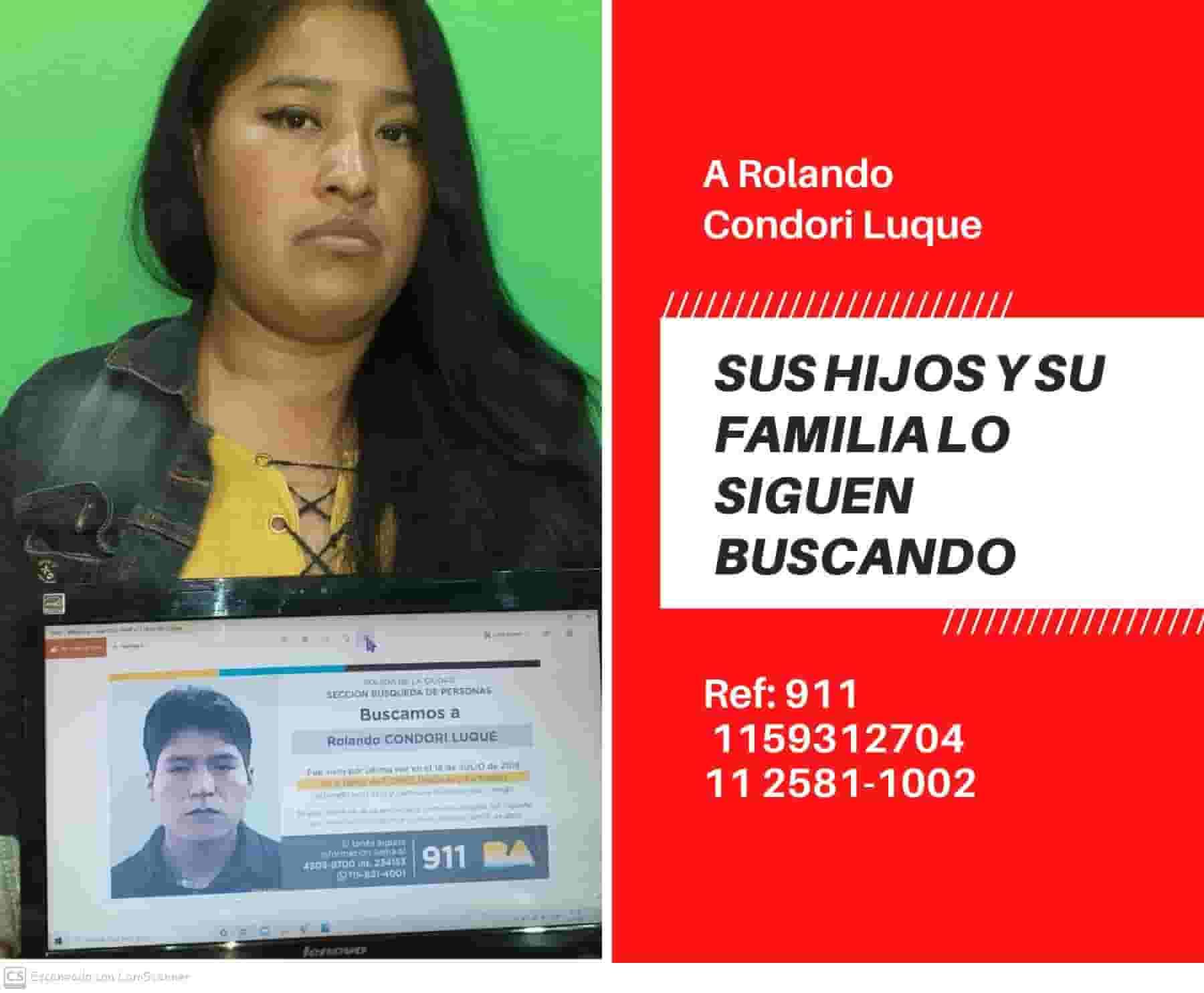 Rolando Condori Luque desaparecido en Buenos Aires