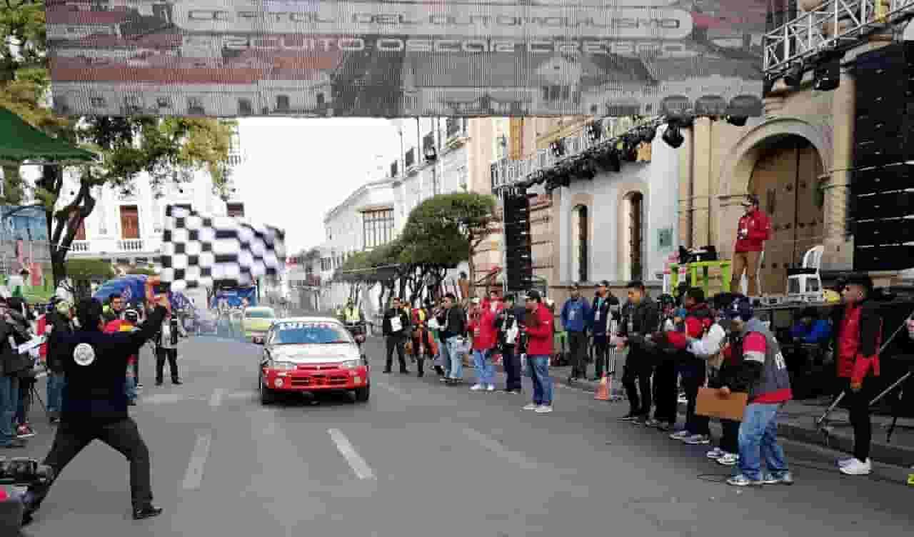 tercera fecha del Campeonato Nacional de Rally en Sucre