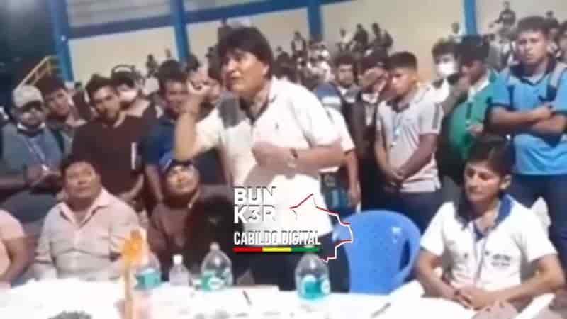 Evo Morales defensa a Añez